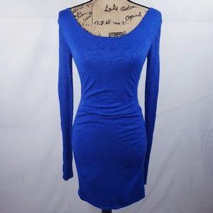 EXPRESS sweater dress royal blue size XS